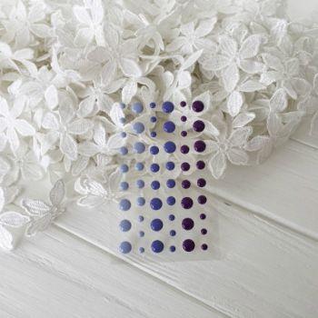 """Эмалевые точки. Дотсы. Цвет """"Purple"""", 54 шт"""