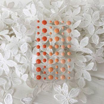 """Эмалевые точки. Дотсы. Цвет """"Orange"""", 54 шт"""