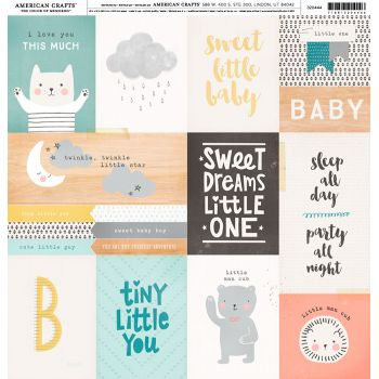 Лист односторонней бумаги  Crate Paper - Little you_Little One - 30*30 см