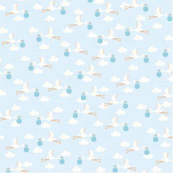 Лист односторонней бумаги Pebbles LULLABY - DELIVERING BABY BOY 30*30 см