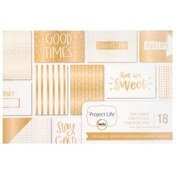 Набор карточек Project Life 10*15 GOLD & BOLD