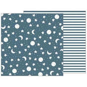 Лист двусторонней бумаги Pebbles NIGHT NIGHT - SWEET DREAMS 30*30 см