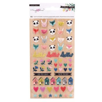 Наклейки  Crate Paper WILLOW LANE SMALL PUFFY ICON STICKERS