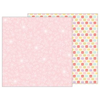Лист двусторонней бумаги Pebbles - TEALIGHTFUL - DELICATE LACE 30*30 см