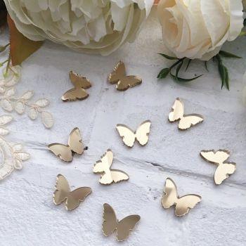 """Декор из акрила """"Бабочка"""", цвет золото"""