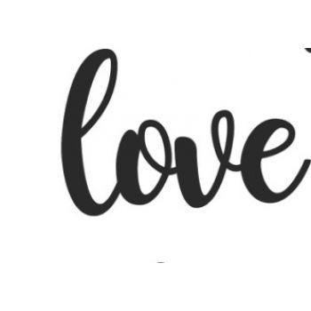 """Надпись из акрила """"love"""", цвет золото"""