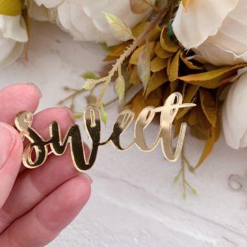 """Надпись из акрила """"Sweet"""", цвет золото"""
