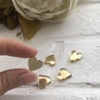 """Декор из акрила """"Сердце"""", цвет золото"""