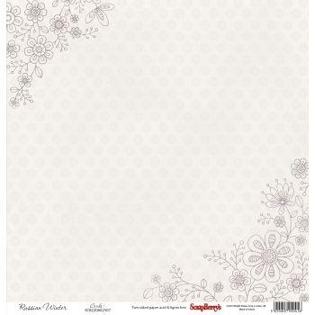 Бумага для скрапбукинга 30,5х30,5 см 190 гр/м двуcторон Летняя Радость