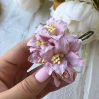 Лилия, цвет пастельный лиловый 3.75 см