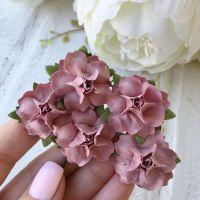 Роза, цвет пастельный винный 2.5 см*2