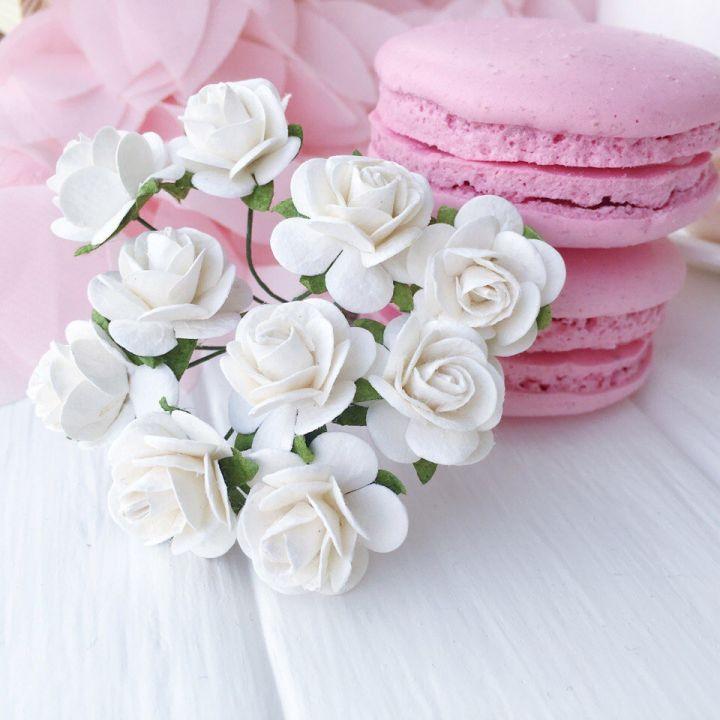 Роза, цвет белый 2 см