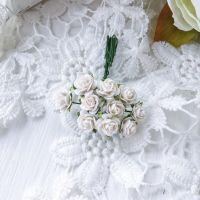 Роза, цвет белый 1 см