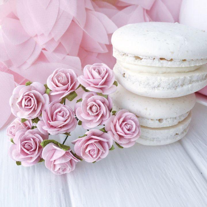 Роза, цвет нежно-розовый 2 см