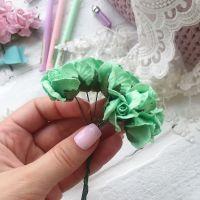 Бутон розы, цвет зеленая мята 2 см