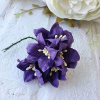 Лилия, цвет пастельный темно-фиолетовый 3.75 см