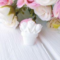 """Фигурка из пластика """"Тюльпаны"""",цвет белый"""