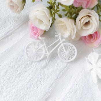 """Фигурка из пластика """"Велосипед"""",цвет белый"""