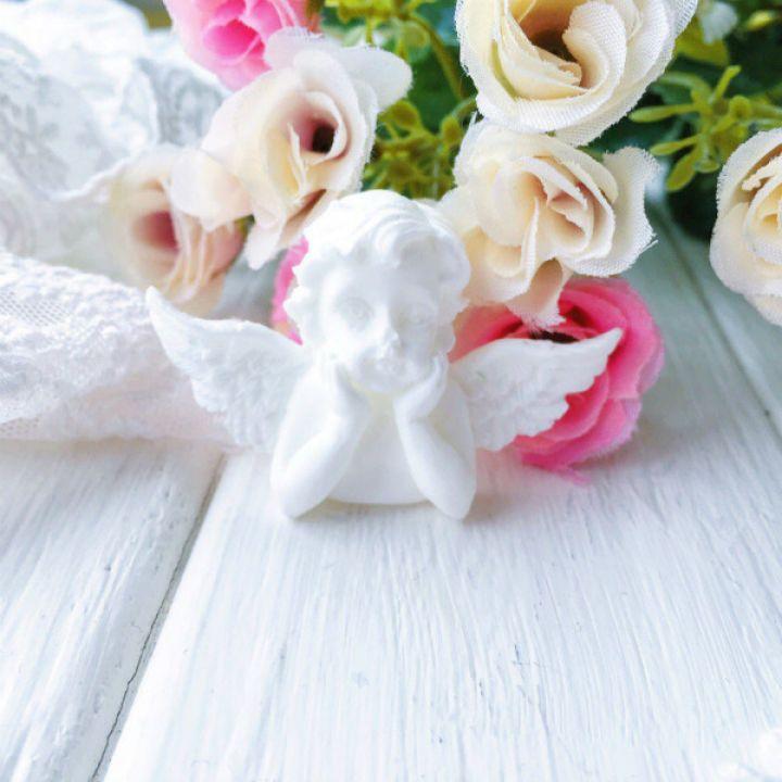 """Фигурка из пластика """"Ангел"""",цвет белый"""
