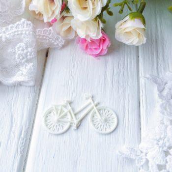 "Фигурка из пластика ""Велосипед"",цвет молочный"
