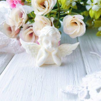 "Фигурка из пластика ""Ангел"",цвет молочный"