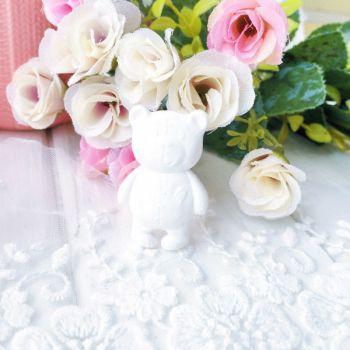 "Фигурка из пластика ""Мишка"",цвет белый"
