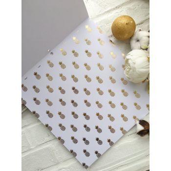 Лист односторонней бумаги DCWV Gold & White  30*30 см *7