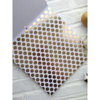 Лист односторонней бумаги DCWV Gold & White  30*30 см *2