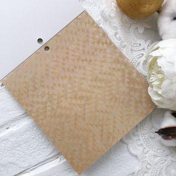 Лист односторонней бумаги  Solid Golds DCWV 15*15 см *4
