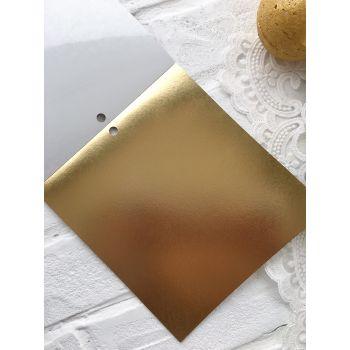 Лист самоклеющейся бумаги DCWV Metallics 15*15 см *4
