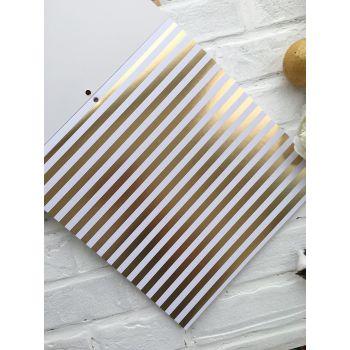 Лист односторонней бумаги DCWV Gold & White  30*30 см *1