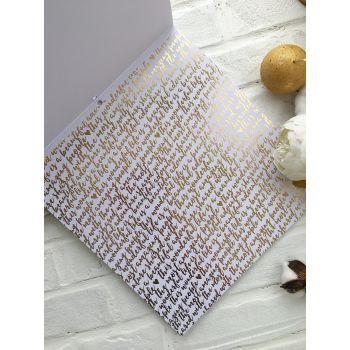 Лист односторонней бумаги DCWV Gold & White  30*30 см *5