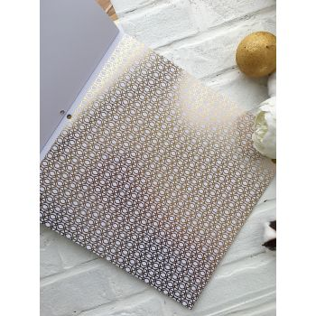 Лист односторонней бумаги DCWV Gold & White  30*30 см *10