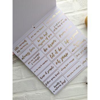 Лист односторонней бумаги DCWV Gold & White  30*30 см *3