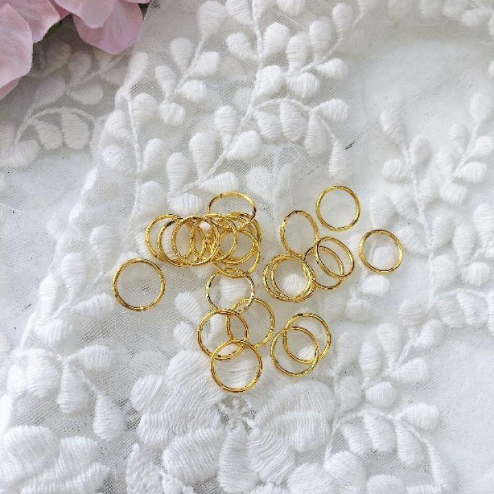 Кольцо разъемное 10 мм, цвет золото