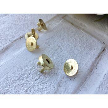 Магнит-кнопка 14 мм, цвет золото