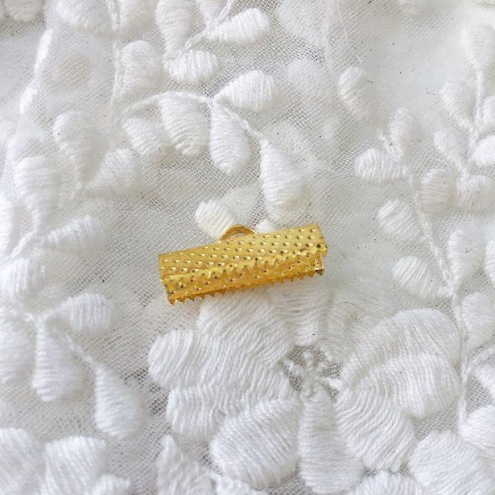 Зажим для ленты 20 мм, золото
