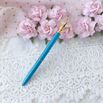 """Ручка шариковая """"Бриллиант"""" , цвет темно-голубой перламутровый/золото"""