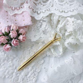 """Ручка шариковая """"Бриллиант"""", цвет золото"""