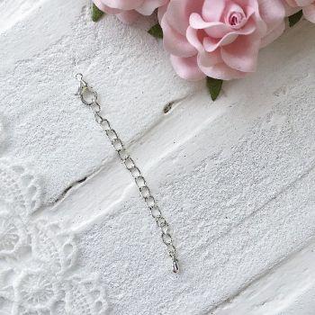 Цепочка с застежкой 8.5 см, серебро