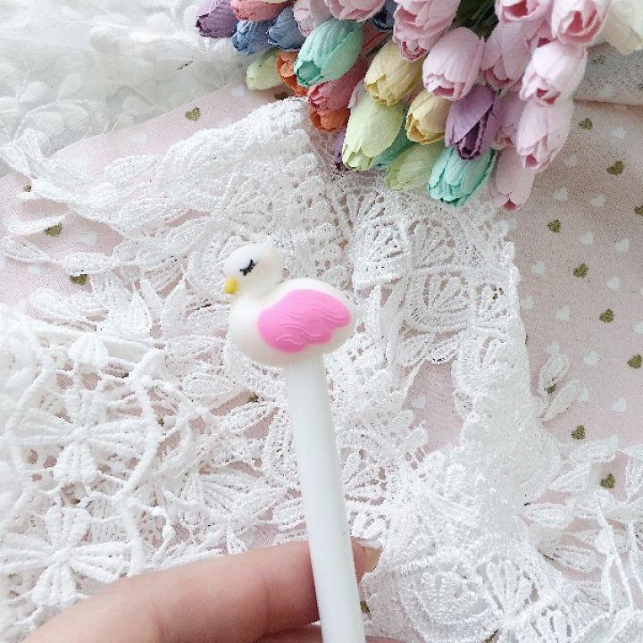"Ручка гелевая ""Фламинго"", цвет белый"
