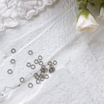 Кольцо разъемное 4 мм, цвет темное серебро