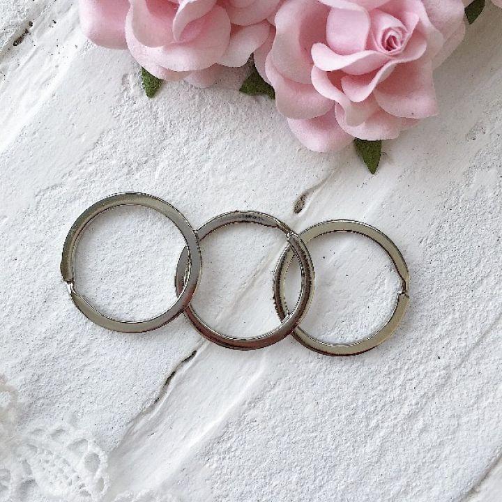 Кольцо для брелка 30 мм, цвет серебро