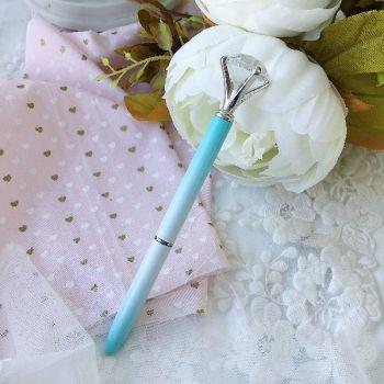 """Ручка шариковая """"Бриллиант"""" , цвет мятно-белый/серебро"""