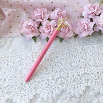 """Ручка шариковая """"Бриллиант"""" , цвет розовый перламутровый/золото"""