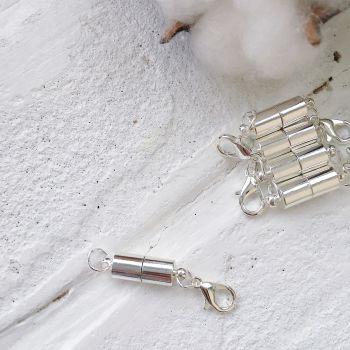 Магнит с карабином, цвет серебро