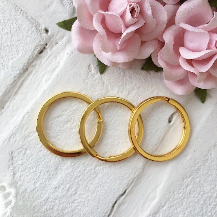 Кольцо для брелка 30 мм, цвет золото