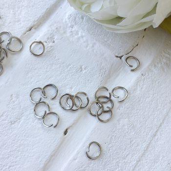 Кольцо разъемное 9 мм, цвет серебро