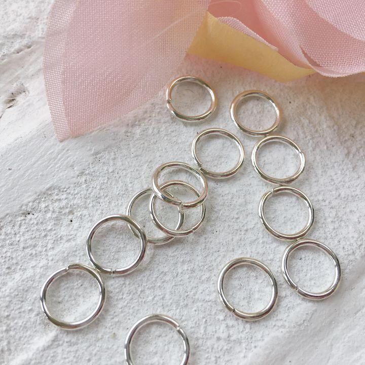 Кольцо разъемное 10 мм, цвет серебро