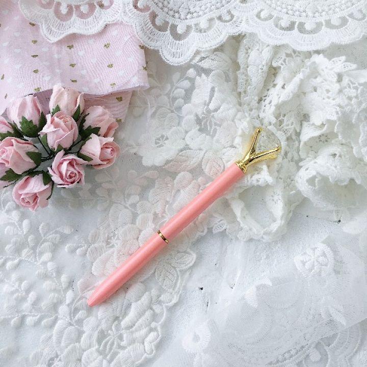 """Ручка шариковая """"Бриллиант"""" , цвет персиковый перламутровый"""